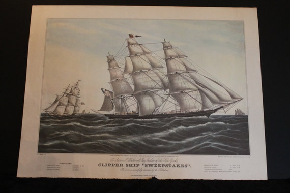 Clipper ship sweepstakes reproduction