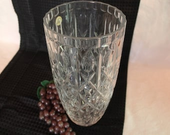 "Vintage Cristal D'Arques 11.75"" Flower Vase - Made in France, Geniune Lead Crystal in Excellent Condition"