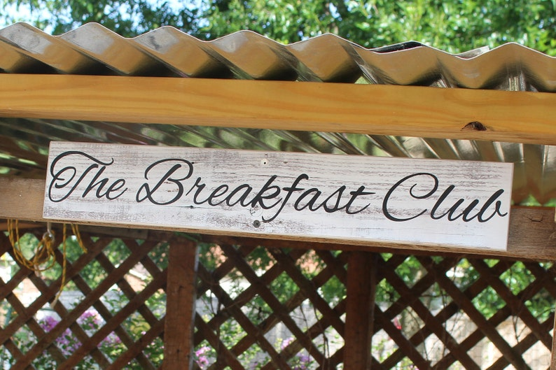 Backyard Chickens, The Breakfast Club, Chickens Farm Sign, Farmhouse Decor  Wood Signs, Chicken Coop Signs, Garden Art