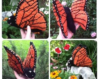 Monarch Butterfly Crochet Stuffed Toy Amigurumi Pattern
