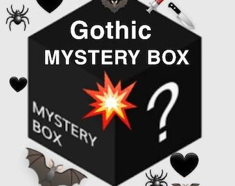 Gothic mystery box, goth jewellery, gothic jewelry, gothic home decor, dark aesthetic