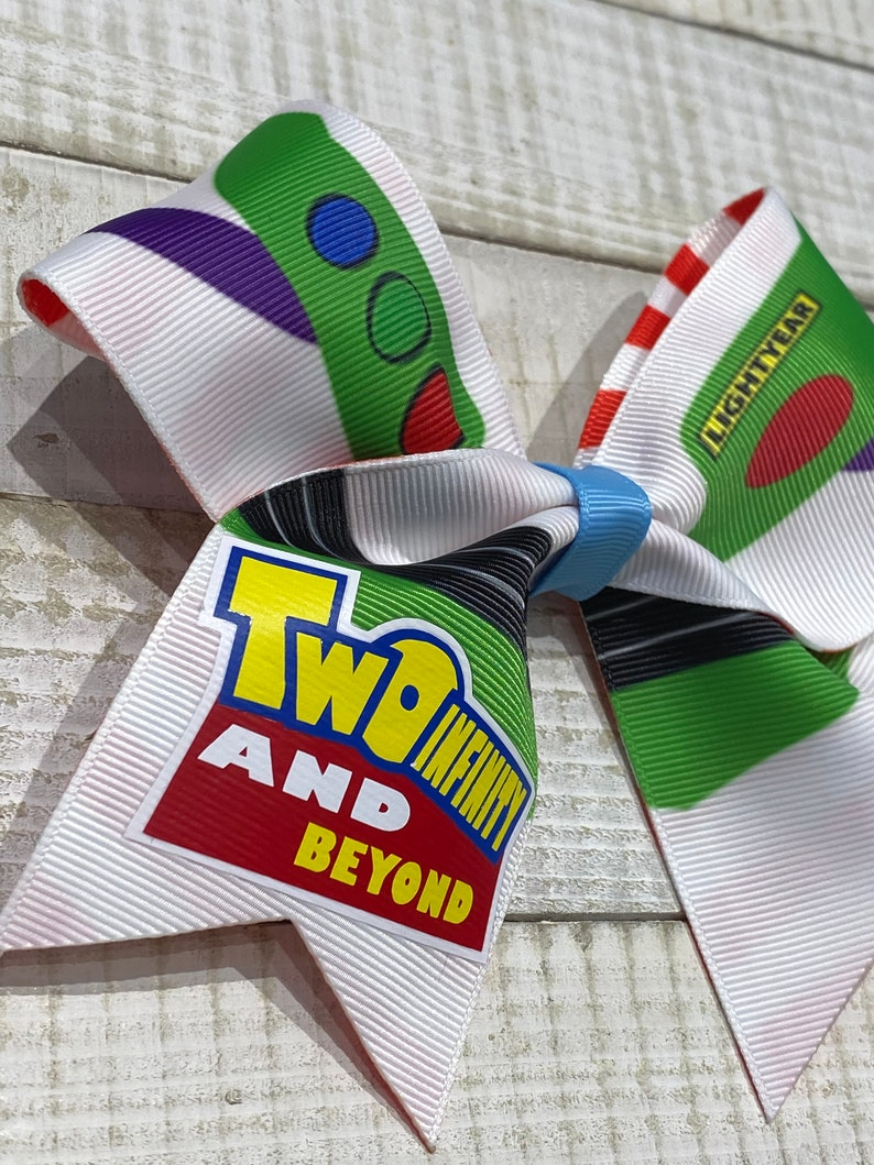 TWO Infinity and Beyond Turning 2  Bow Buzz Lightyear Suit