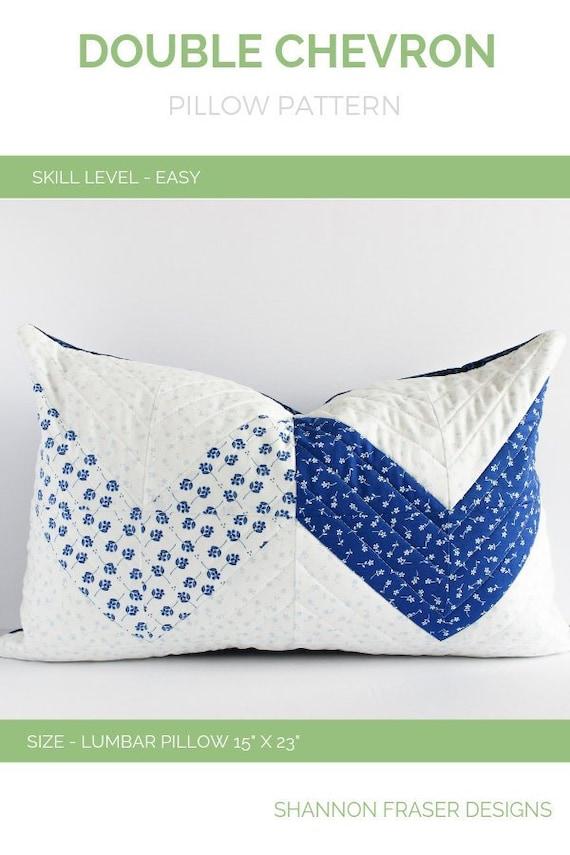 Double Chevron Pillow Pattern Diy Home Decor Modern Quilt Pattern Lumbar Quilted Pillow Pattern