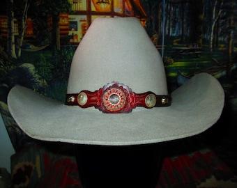Vintage custom Rockmount fur blend western hat in size 7-1 4 86ce10383ed9