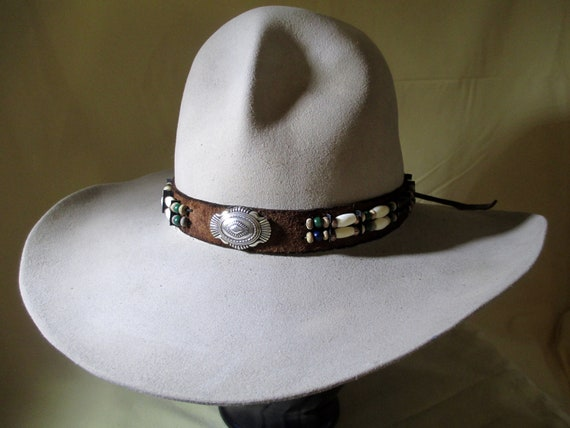 abe5a03fad35b Vintage Wester Stetson Cowboy Hat 5XXXXX Beaver Felt Size
