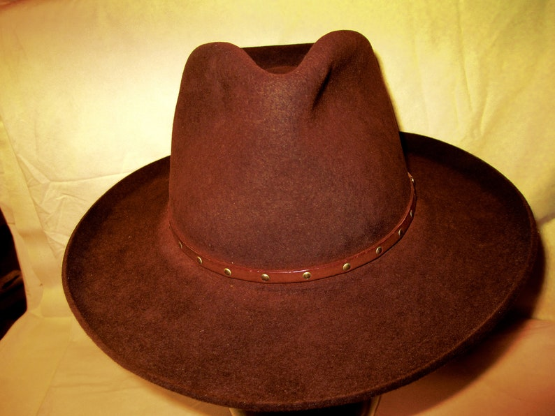 05f76c655bec8 Rare Stetson Vintage Cowboy Hat with a Fedora Pencil Curl Brim