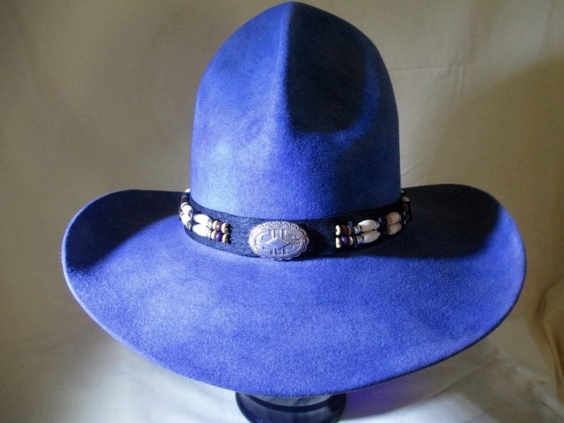 bde6849395b6d Rare Vintage Western Stetson 5X Beaver Felt Hat Size 6-7 8