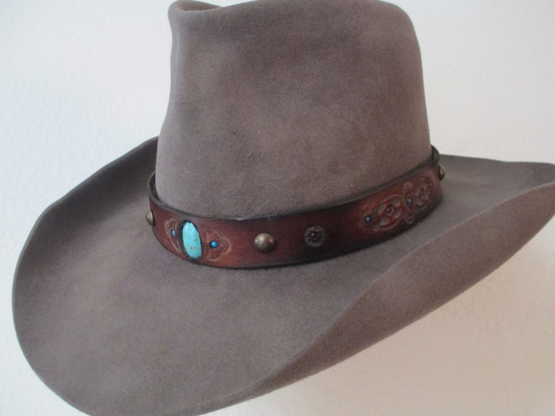 Vintage Western John B Stetson size 7 nicely aged with a  b6081891e77