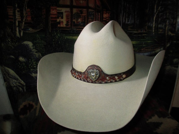 09877ec68f0 Vintage Stetson Hat called the Cowboy 5XXXXX Ranch Tan Size