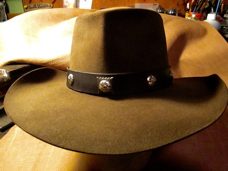 Vintage Resistol Western Cowboy Hat 3 X Beaver Hand Creased  eefeb499f9a