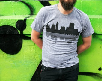 Unisex SF Skyline T-Shirt - Heather Grey