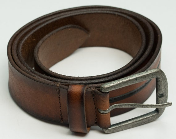 DuK Genuine 100/% real leather belt vintage look quality mens jeans belts brown
