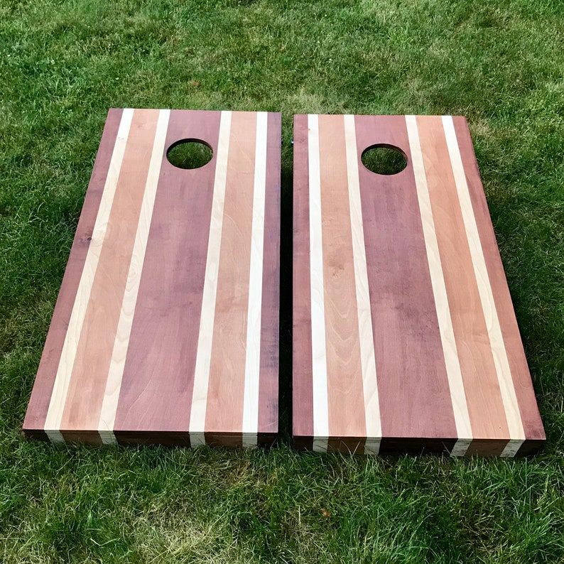 Multi Stained Wood Corn Hole Boards  Multiple Wood Stains image 0