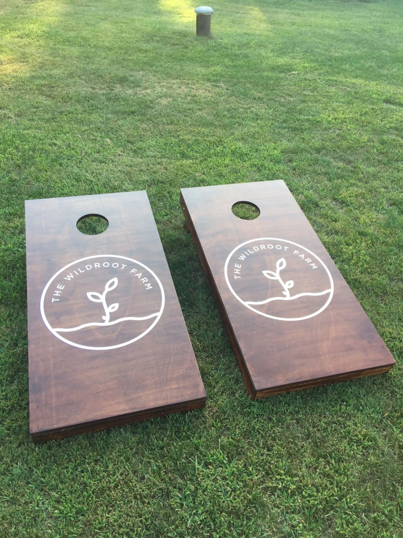 Wood Stained Custom Corn Hole Boards  Company Logo image 0