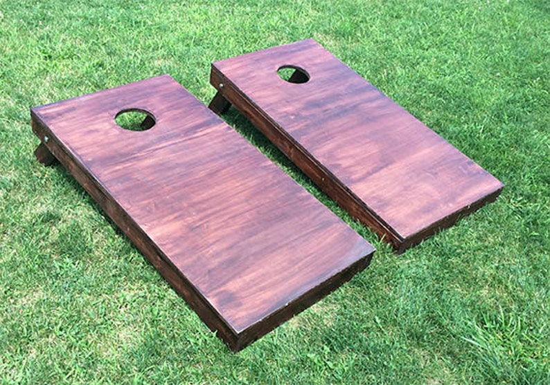 Wood Stained Corn Hole Boards image 0