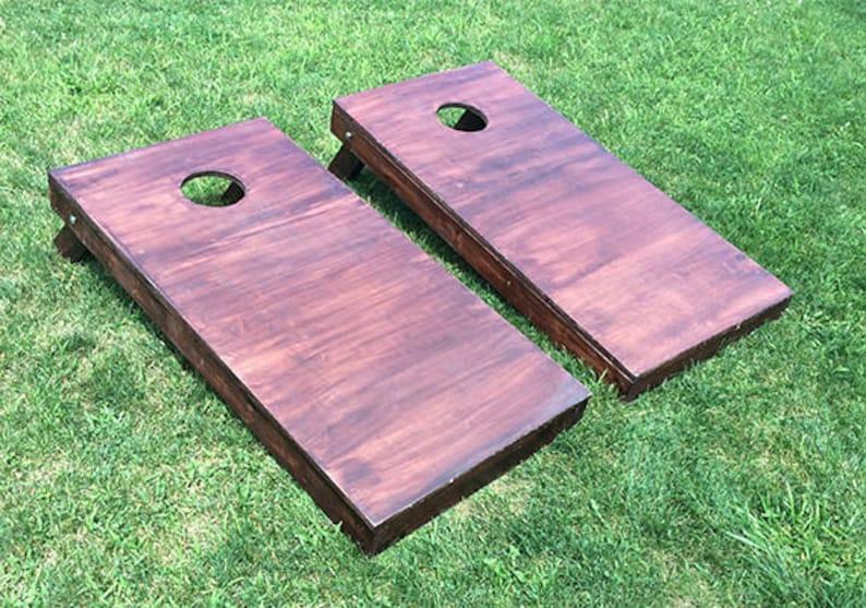 Wood UNFINISHED Corn Hole Boards image 0