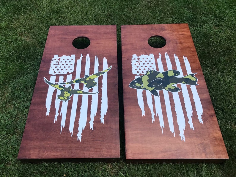 Custom Wood Stained Cornhole Boards  Corn hole Boards  image 0