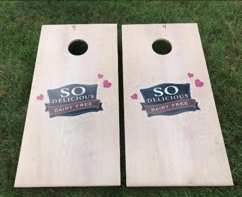 Natural Wood Stain Custom Corn Hole Boards  Cornhole Boards  image 0