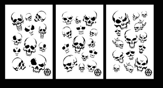 not Paper Arts and Crafts Material Scrapbooking for Airbrush Painting Drawing Reusable Sturdy Stencil Skeleton Hand Finger Halloween 8.5 x 11 Cut Stencil Sheet