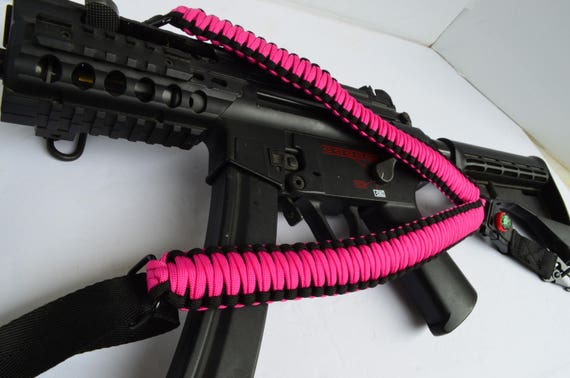 550 Paracord Tactical Rifle Gun Shotgun bow Sling Single or 2 Point Red Micro