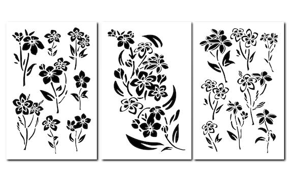 Model Craft Painting Stencils Mylar 14 Flower Template 2 PACK Sunflower Wall