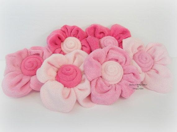 6 Ct Washcloth Flower Baby Bouquet Garden Baby Shower Etsy