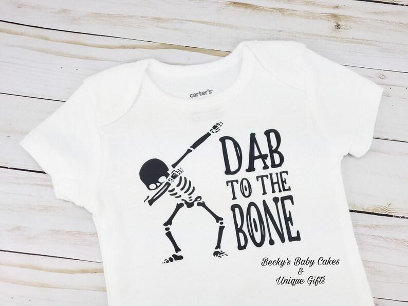 71ecffaf5 Dab to the Bone Onesie Skeleton Bodysuit Halloween Dabbing | Etsy