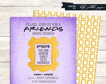 FRIENDS TV Show Shower Invitation Bridal Birthday Party Baby Tv Theme