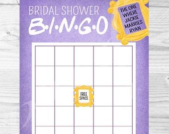 Friends Bingo Etsy