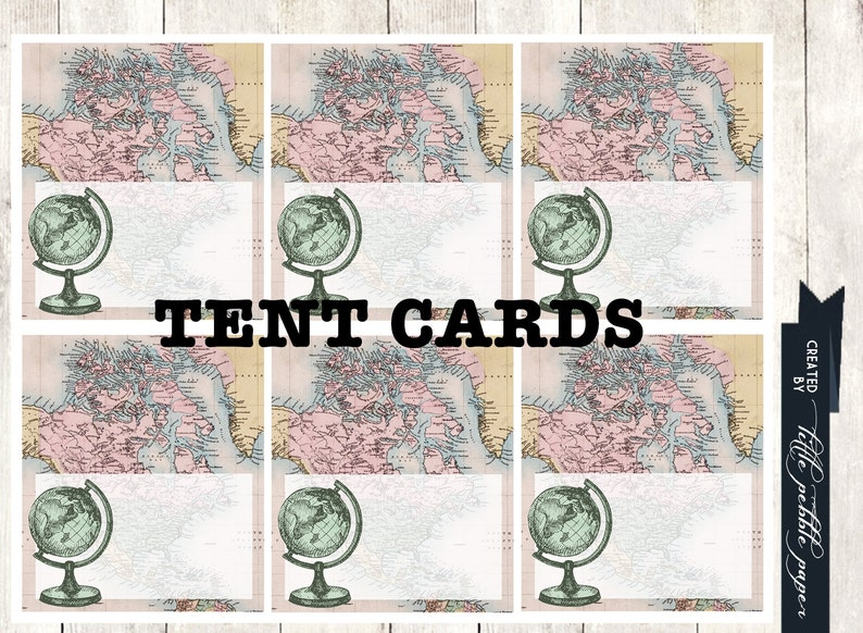 Welcome to the World Baby Shower Tent Cards World Tent Cards Welcome to the World Place Cards Around the World Tent Cards Food Labels