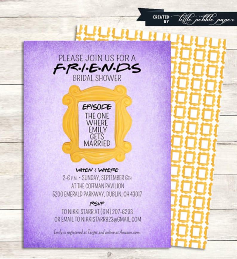 FRIENDS TV Show Shower Invitation Bridal Birthday