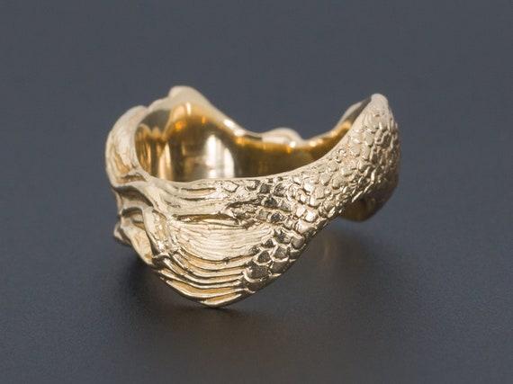 Mermaid Ring   Vintage Mermaid Ring   14k Gold Me… - image 3