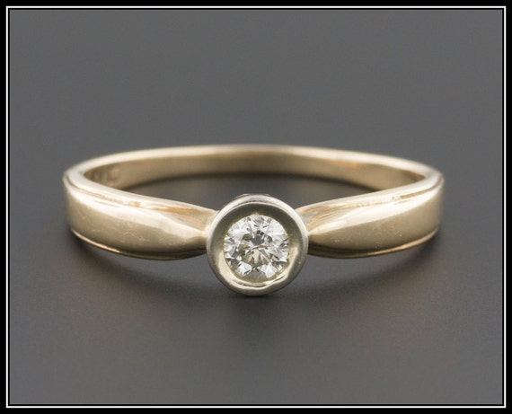Vintage Engagement Ring | Vintage Yellow Gold Ring
