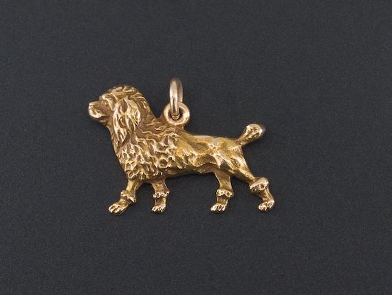 Poodle Charm | 14k Gold Dog Charm | 14k Gold Poodl