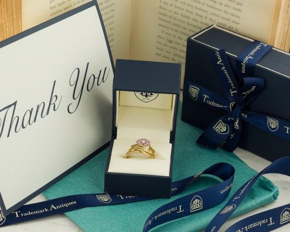 Pansy Ring   Enamel Flower Ring   14k Gold Ring  … - image 4