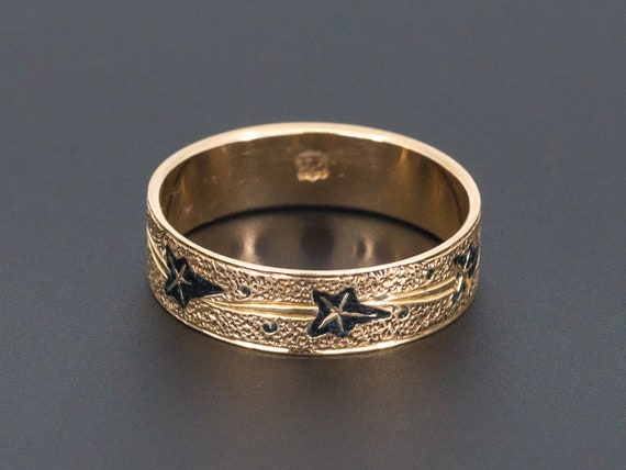 Antique 14k Gold Ivy Band | Antique Gold Band | Ta