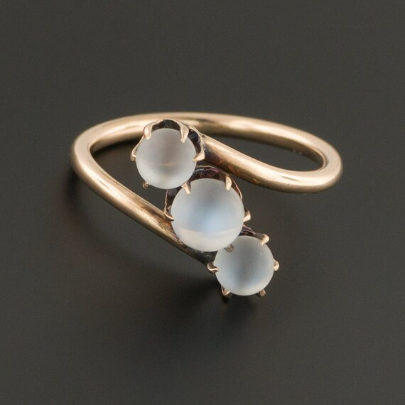 Moonstone Ring | 10k Gold Moonstone Ball Ring | An