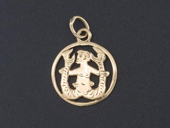 Gold Charm | 14k Gold Charm | Triton Charm | Ocean