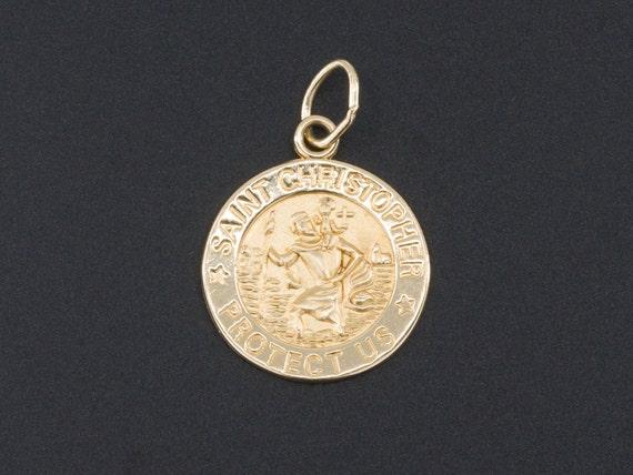 Saint Christopher Charm | 14k Gold Saint Christoph