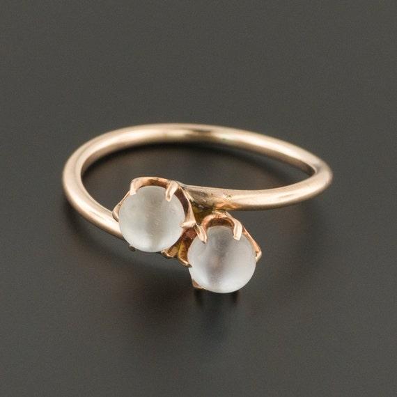 Moonstone Ring | 14k Gold Moonstone Ball Ring | An