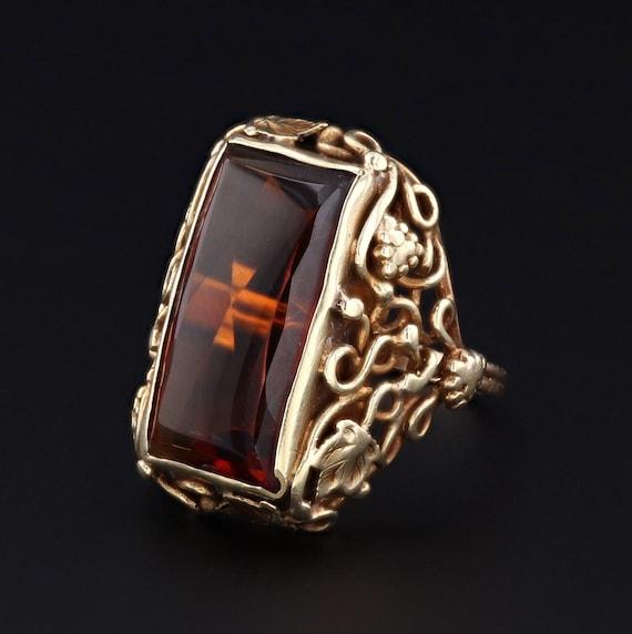 Citrine Ring | Vintage Ring | 14k Gold Ring | Stat