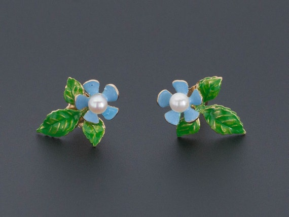 Flower Earrings | 14k Gold Earrings | Flower & Lea
