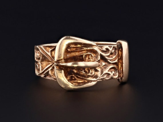 Vintage Buckle Ring | 9ct Gold Ring | Unisex Ring