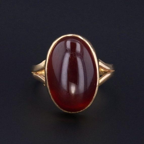 Carnelian Ring | 18k Gold Ring | Vintage Carnelian