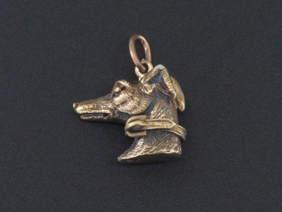 Greyhound Charm | Antique Greyhound Charm | Dog Ch