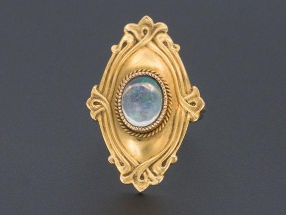 Opal Ring | 14k Gold Opal Ring | Crystal Opal Ring