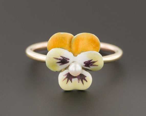 Pansy Ring | 14k Gold Ring | Conversion Ring | Yel