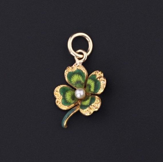 Clover Charm | Antique Clover Charm | 14k Gold Cha