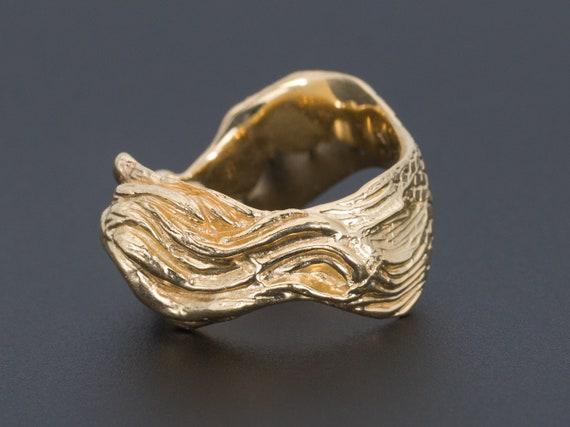 Mermaid Ring   Vintage Mermaid Ring   14k Gold Me… - image 2