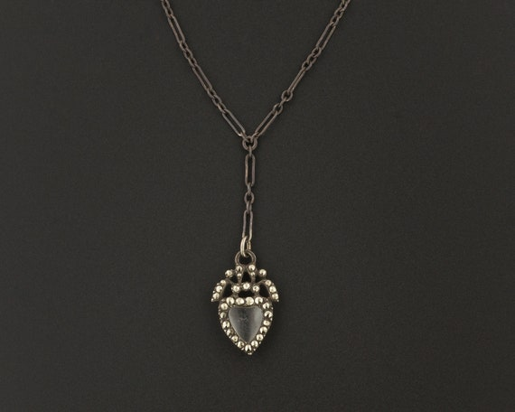 Silver & Marcasite Heart Necklace | Antique Heart